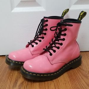 Dr Martens 1460W Acid Pink Patent boots